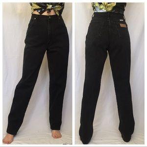 Vintage Wrangler Black High Rise Jeans